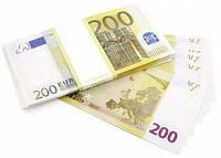 Сувенирные деньги 200 евро .Пачка 80 шт