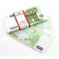 Сувенирные деньги 100 евро .Подарочная пачка 80 шт.