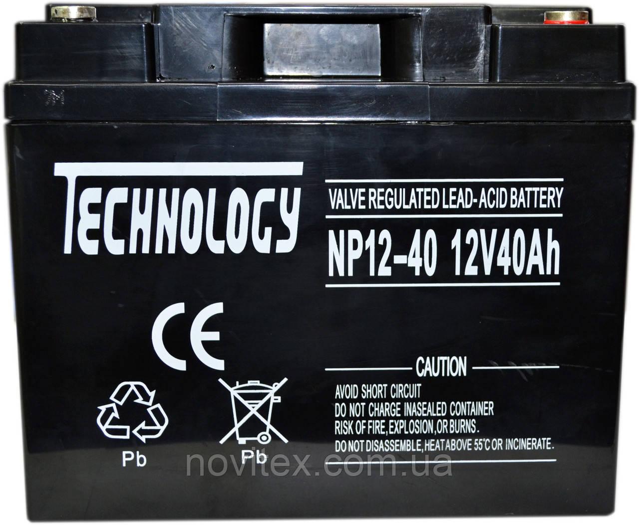 Аккумулятор мультигелевый TECHNOLOGY NP12-40Ah 12V 40AH