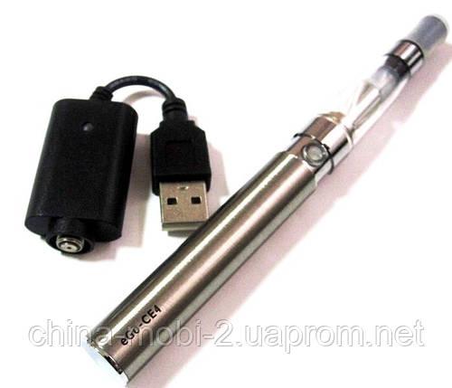 Электронная сигарета  EGO-CE4 650 mAh + заправка, silver, фото 2