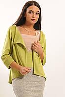 Женский замшевый пиджак на вискозной основе, салат (р.42-52)