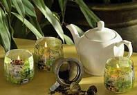 Свеча в стакане ароматизированная Зеленый чай