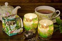Свеча в стакане ароматизированная Зеленый чай 1