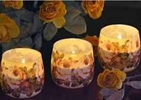 Свеча в стакане ароматизированная Цветы 2