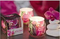 Свеча в стакане ароматизированная Орхидея