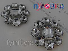 Шубная пуговица 48mm, white, №029