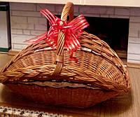 Корзина плетеная дроварник