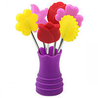 Набор шпажек для кенапе Цветы в вазе 6 шт.