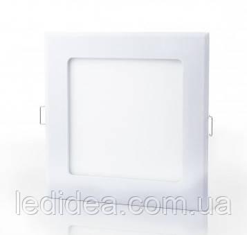 ЛЕД светильник квадрат  225мм  18W  4200K Matt, фото 1