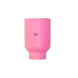 Керамічне сопло № 10 для пальників NW 16.0 мм/L 48.0 мм для корпусу цанги з дифузором 701.02