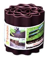 Бордюр волнистый 9м x 15см, коричневый