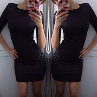 Красивое повседневное платье не дорого черное, фото 1