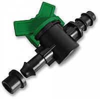 Старт-коннектор для трубки с прокладкой и миникраном Bradas (25 шт)