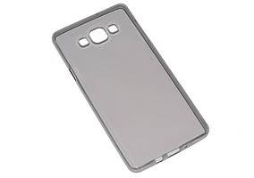 Силиконовый чехол Ultra-thin на Samsung Galaxy А7 SM-A700H Clean Grid Black