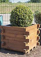 Ящик садовый деревянный (с выпуклыми краями), 42х41,5х53,5 см
