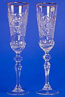 Хрустальные свадебные бокалы №5
