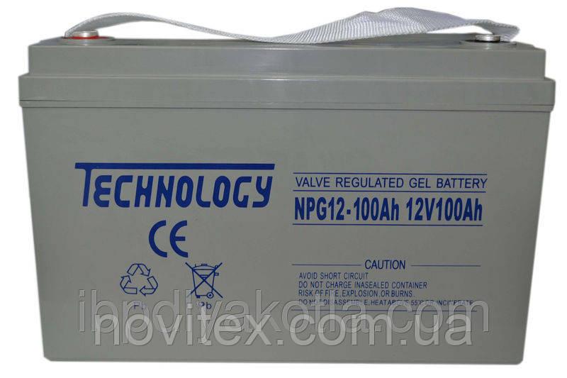 Аккумулятор гелевый TECHNOLOGY NPG12-100Ah 12V 100AH