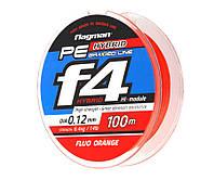 Шнур Flagman PE Hybrid  Braided Line Fluo Orange (флагман гибрид флюо орандж)  0,10мм 100 метров, оранжевая