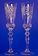 Хрустальные  бокалы на свадьбу №2