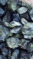Галька «Мрамор Зеленый Греческий», фракция 20-40 мм, 25 кг