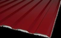 Профнастил ПС-10 0,45мм RAL3005 глянец (вишневый) 2,0*1,18 м