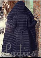 Пальто стеганное черное