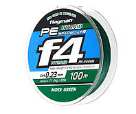 Шнур Flagman PE Hybrid  Braided Line Moss Green (флагман гибрид мосс грин)  0,08 мм 100 метров, оранжевая