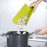 Доска складная разделочная кухонная из пшеничной шелухи 38х21см., фото 6