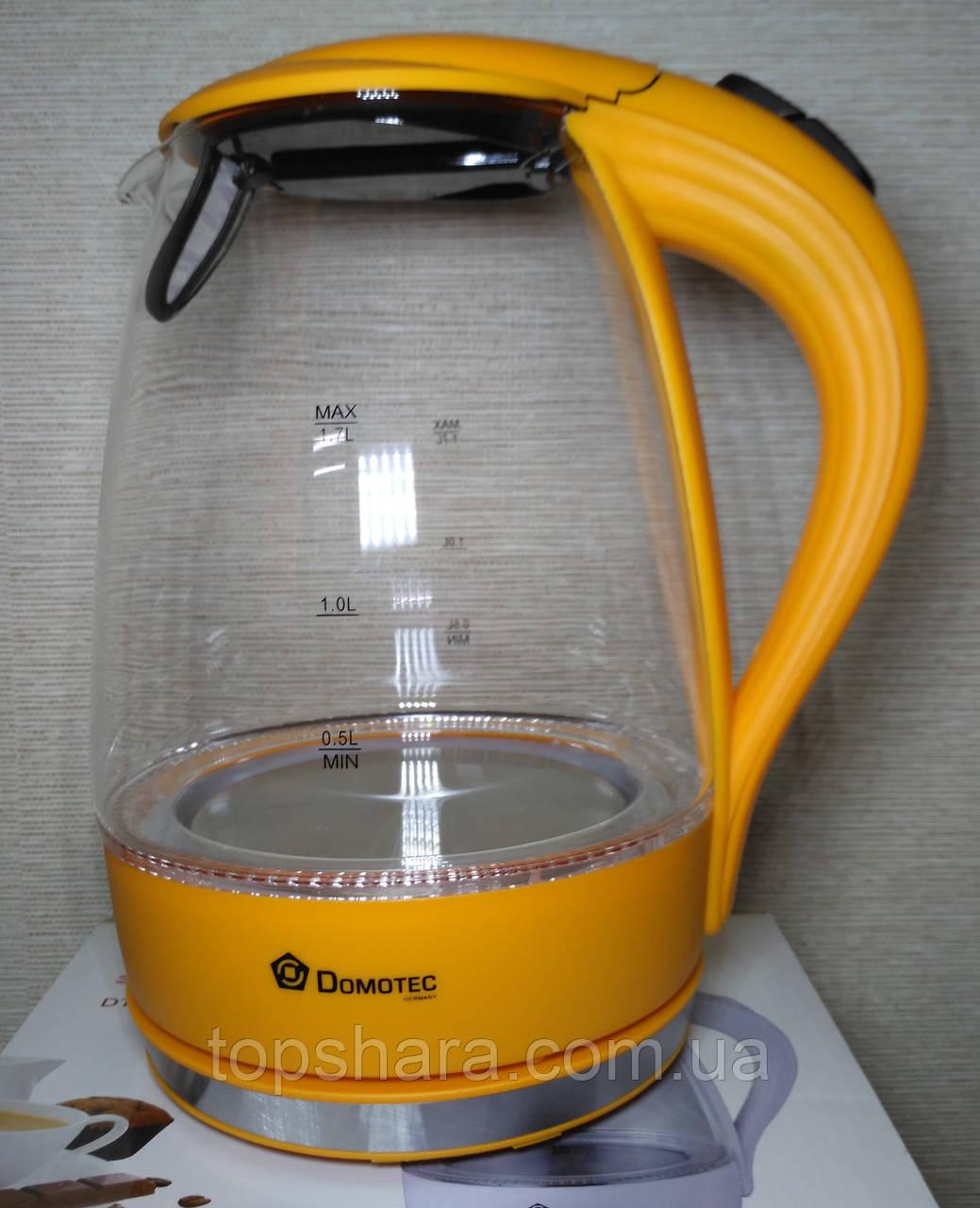 Электрочайник Domotec DT-810 чайник 1.7л. оранжевый