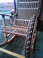 Качалка кресло ротанговое на подарок, фото 1