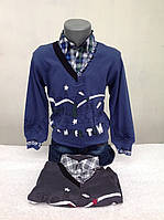 Рубашка-обманка для мальчиков 86,92,98,104 роста Сказочный город