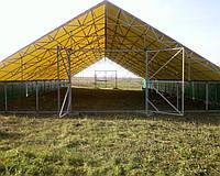Ферма свинарник из металла тент конструкция