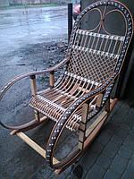 Качалка кресло ротанговое на подарок | кресло-качалка для отдыха садовая для дачи