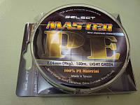 Шнур для рыболовной ловли Select Master Tackles(селект мастер теклес) 150 метров 0.10 мм 13 кг, светло-зеленая
