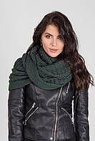 Ультрамодный шарф-петля крупной вязки бутылочный