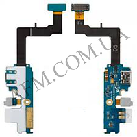 Шлейф (Flat cable) Samsung i9105 Galaxy S2 Plus с разъемом зарядки,   микрофоном