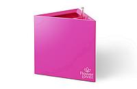 Кашпо Flower Lover «Triangle» (розовое) с гидросистемой, 21 см