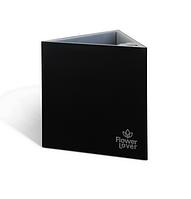 Кашпо Flower Lover «Triangle» (черное) с гидросистемой, 14 см