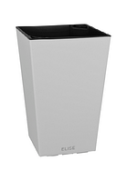Кашпо Plastkon Elise 15 (белое), 26 см