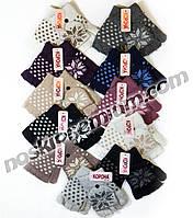 Перчатки-митенки женские шерстяные одинарные Корона, ассорти, 7176