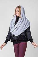 Ультрамодный шарф-петля крупной вязки стальной