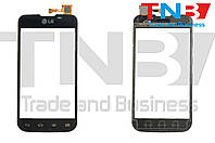 Сенсор LG E455  Optimus L5 Dual SIM Черный ОРИГ