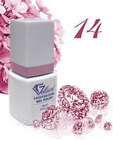 "Гель-Лак №014 True Pink (ярко-розовый) UV/LED ""Gelliant"" 9 мл."