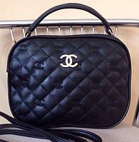 Стёганая сумочка-клатч Chanel. Хорошее качество. Удобная женская сумочка. Купить черный клатч. Код: КДН1041