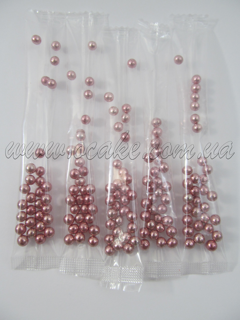 Шарики перламутровые розовые