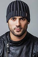 Стильная мужская шапка ALONSO, черный/серый