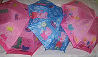 Детский зонт-трость Свинка Пэпа