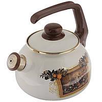 """Чайник эмалированный со свистком 2,5 л """"Мадрид"""""""