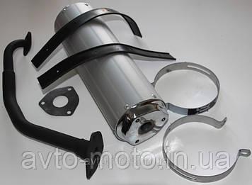 Глушитель GY6-125-150 бочёнок (для скутера)