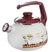 """Чайник эмалированный со свистком 2,5 л """"Повара"""""""